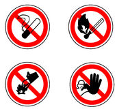禁止的路标 免版税库存照片