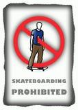 禁止的踩滑板 免版税库存照片