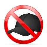 禁止盖帽 免版税库存照片
