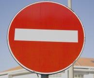 禁止符号业务量 免版税库存图片