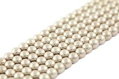 禁止银色的小珠偏压包括的谎言 免版税库存图片