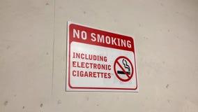 禁烟区的行动包括电子香烟签字 股票视频
