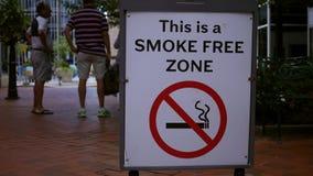 禁烟区警告象在市中心 股票录像