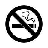 禁烟标志传染媒介 免版税库存照片