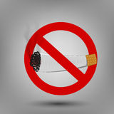 禁烟标志的例证 图库摄影