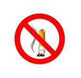 禁烟的标志 免版税库存照片