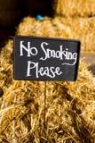 禁烟请签字 免版税图库摄影