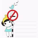 禁烟请纸笔记例证 向量例证