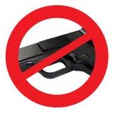 禁令开枪标志 库存照片