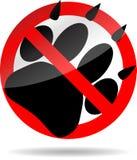 禁令脚印刷品动物 库存图片