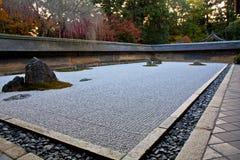 禅宗假山花园,京都 免版税图库摄影