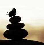 禅宗平衡石头 库存图片