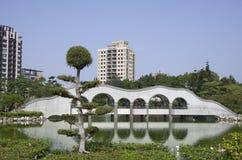 禅宗庭院在台湾 库存图片