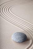 禅宗庭院灵性纯净温泉背景 免版税库存照片