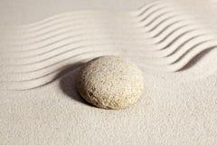 禅宗态度的圆的石标志 库存照片
