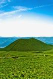 禅宗日本火山横向在九州 免版税图库摄影