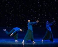 禅宗现代舞蹈的不平稳耕种 库存图片