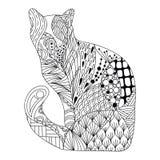 禅宗艺术猫 库存照片