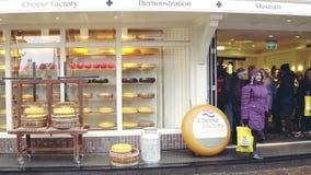 福伦丹,荷兰- 2017年12月30日 传统荷兰干酪工厂和博物馆 库存图片