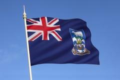 福克兰群岛(即马尔维纳斯群岛)的旗子 库存图片