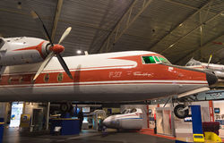 福克战斗机F27 frienship飞机 库存图片