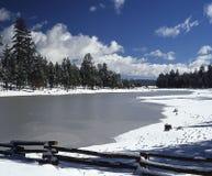 福克斯伯罗冻结的湖 库存图片