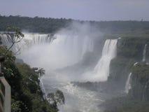 福兹de iguazu小瀑布,从上面被看见 库存照片