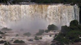 福兹Iguaçu瀑布,在南美洲 股票视频