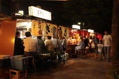 福冈` s著名食物使yatai失去作用 库存照片