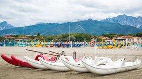 福尔泰德伊马尔米沙子海滩,托斯卡纳,意大利 免版税库存图片