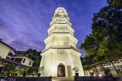 福州,中国白色塔  库存图片