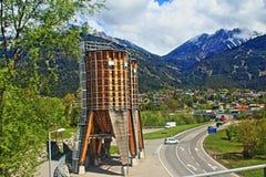 福拉尔贝格州路视图阿尔卑斯奥地利 免版税库存照片