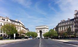 福煦大道在巴黎第16 arrondissement 免版税库存照片