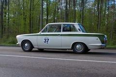 1965年福特在ADAC符腾堡历史的Rallye的莲花肾上腺皮质激素2013年 库存照片
