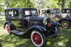 1931年福特模型Steelback轿车葡萄酒 库存照片