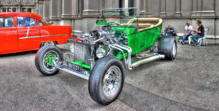 1923年福特模型T桶旧车改装的高速马力汽车 库存图片