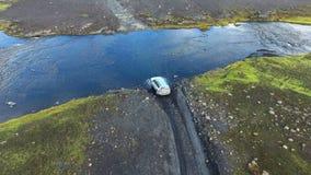 福特横穿在冰岛 影视素材
