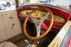 1931年福特游览车内部 免版税图库摄影