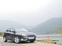 福特焦点2015实验驾驶天 免版税库存照片