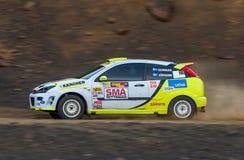 福特焦点Rallycar 免版税库存照片
