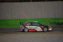 福特焦点WRC集会汽车在蒙扎 免版税图库摄影
