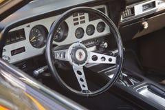 1978年福特眼镜王蛇内部 免版税库存照片
