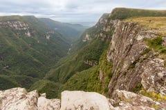 福特莱萨峡谷Aparados da Serra巴西 免版税库存照片