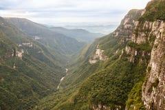 福特莱萨峡谷Aparados da Serra巴西 免版税库存图片