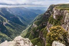 福特莱萨峡谷Aparados da Serra巴西 图库摄影
