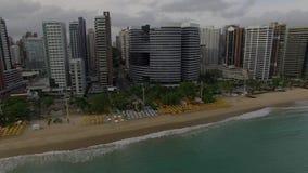福特莱萨,塞阿拉州的鸟瞰图状态,巴西 股票录像