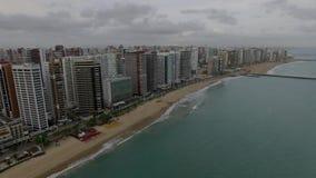 福特莱萨,塞阿拉州的鸟瞰图状态,巴西 股票视频