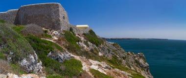 福特莱萨de Beliche,阿尔加威,葡萄牙全景视图  库存图片