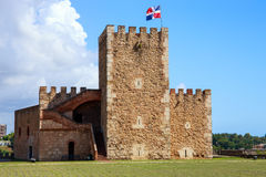福特莱萨Ozama堡垒,圣多明哥 免版税库存照片