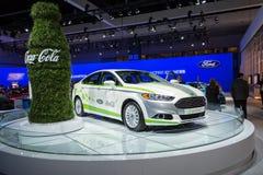 福特融合Energi在显示的可口可乐o汽车在LA汽车Sho 库存图片